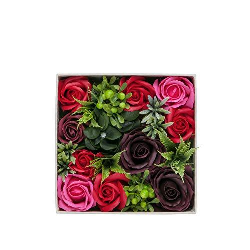 【BIO】フレグランスソープフラワー ハーモニーボックス お祝い 記念日 お見舞い 母の日 お祝い パーティーグッズ プレゼント(レッド)