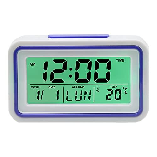 Reloj Despertador Parlante en Español, Alarma LCD con Voz,...