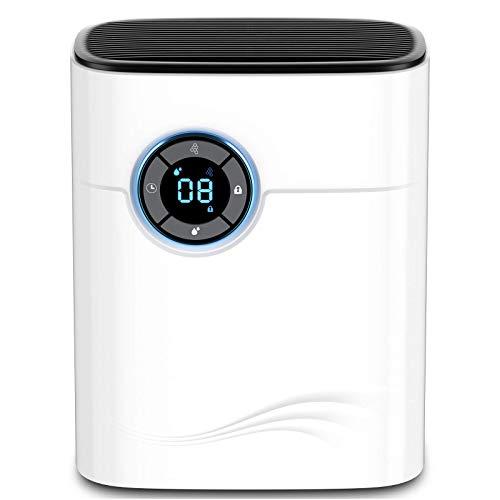 Luftentfeuchter Tragbar 1200ML, Tägliche Entfeuchtungskapazität 600ML, Silence Luftentfeuchter, 1-12H Timer, Geeignet für 25 ㎡ Raum, für Badezimmer, Küche, Keller, Kleiderschrank, Schlafzimmer