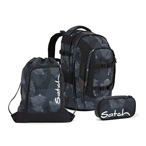 Satch Pack Infra Grey Schulrucksack Set 3tlg.