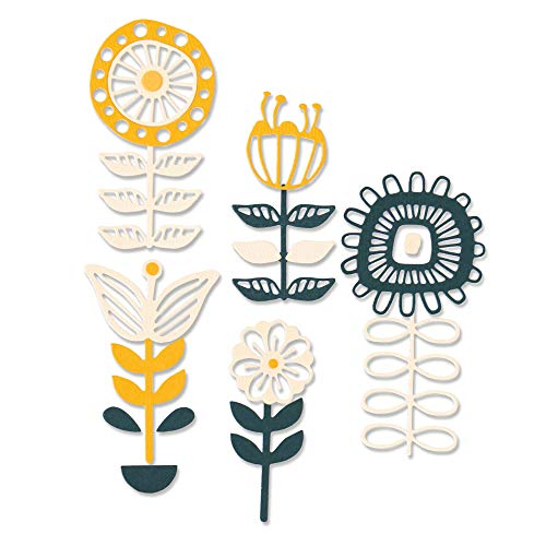 Sizzix Set de Troqueles Thinlits, 13 pzas 664458 Florales apilables de Jenna Rushforth, Talla única