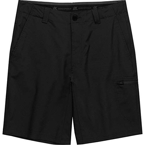 ZEROXPOSUR Men's Lightweight Stretch Travel Friendly Shorts Color: Black, Size: (30)-(32)-(34)-(36)-(38)-(40) New with Tags (36)