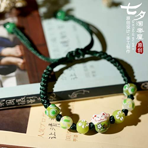 Bracelet En Céramique,Main Douce Japonaise Chanceux Japonais Chats Et Hommes Modèles De Couple...