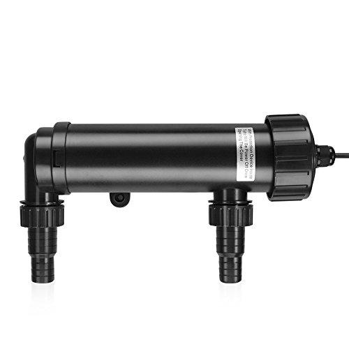 Flexzion 9 Watt UV Sterilizer Light 110V Water Clarifier Lamp Ultraviolet Filter with Bulb Tube for Aquarium Pond Tank Gold Fish Reef Koi