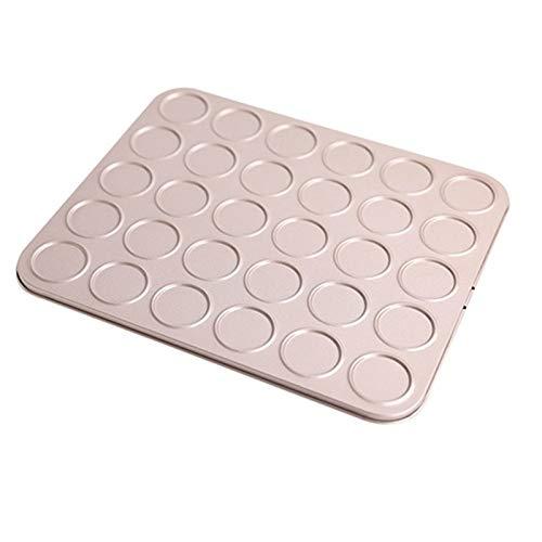 Küchenwerkzeuge Backschale DIY Macarons Cookies Antihaft Backen Kuchen Pan Backen Gebäck Werkzeuge Dessert Dekorateur (Color : Gold)