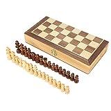Juego de ajedrez magnético de madera para niños, juguete magnético portátil de madera Juego de tablero de ajedrez Juego de mesa plegable Juego de escritorio Juguete para niños Principiantes Adultos