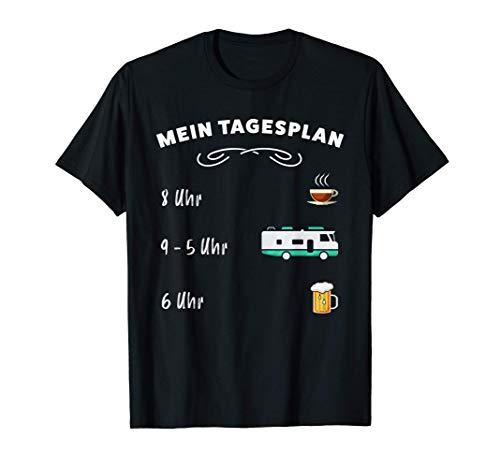 Der Tagesplan: Kaffee, Wohnmobil & Bier (lustiges Geschenk) T-Shirt