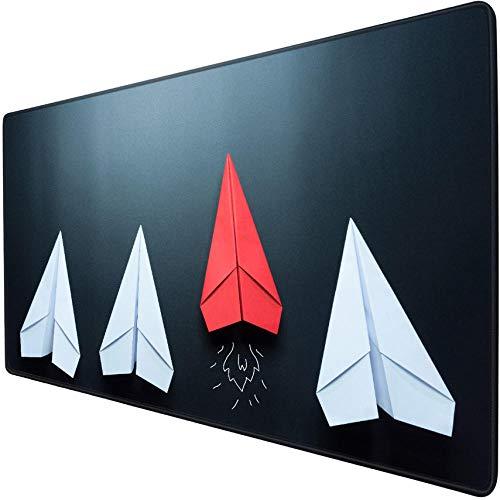 gaming mauspad xl Origami Papier Flugzeug einfache coole Alternative Spiel Mauspad übergroßen Schreibtisch Matte 900x400