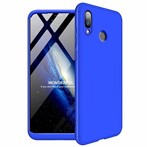 TXLING Custodia Huawei Honor Play 360 Gradi Full Body Protezione [Ultra Sottile] AntiGraffio Antiurto 3 in 1 Hard Stilosa Pc Case Cover Protettiva Bumper Posteriore per Huawei Honor Play/Blu