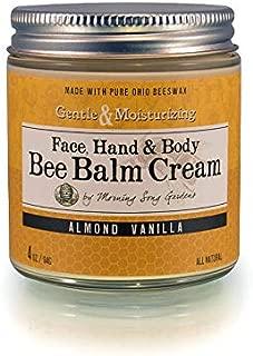 Bee Balm Cream - Almond Vanilla - All Natural Hand & Body Moisturizer (4 ounces)