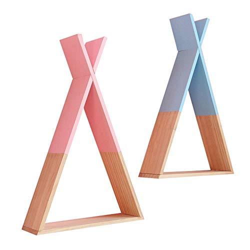 Zwevende plank, zwevende plank, twee drijvende planken, van driehoekig hout, voor keuken, badkamer, management, opbergen van opbergrek, weerbestendig, slaapkamer, nachtkastje, stoccbag.