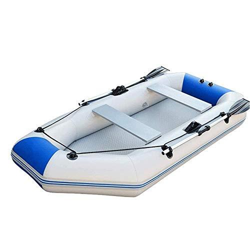 Kayak inflable, barco de goma gruesa inferior duro del barco de pesca Motor barco inflable Kayak Asalto Barco, fondo duro resistente al desgaste, anti-arañazos, anti-colisión (Color: azul, tamaño: 230