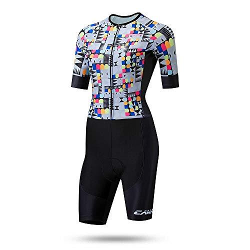 Guolipin Trajes de Ciclismo para Mujeres Traje de triatlón for Mujer Traje de equitación de Verano Mono Traje de Bicicleta for Mujer Protección UV Transpirable para Damas (Color, tamaño : XS)