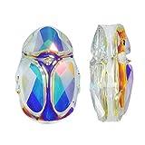 Swarovski Cristal, Cuenta Escarabajo 5728 12mm, 1 Pieza, Cristal AB