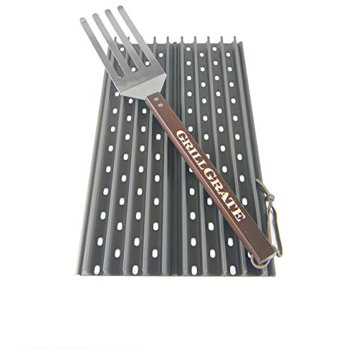 "GrillGrate Set of Two 18.5"" Panels (Interlocking) + GrateTool"