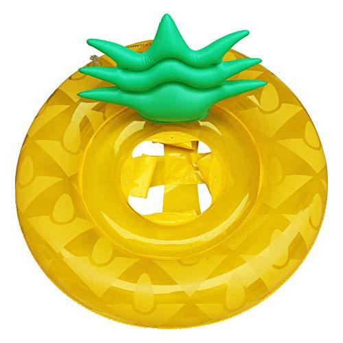ROUSIER®Schwimmende Bett Ananas Schwimmring Aufblasbare Verdickung Schwimmende Reihe Schwimmring Für Kinder, Babys, Familien, Garten Und Außenpools