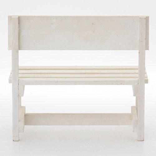 不二貿易ミニベンチホワイト木製インテリアオブジェ15180