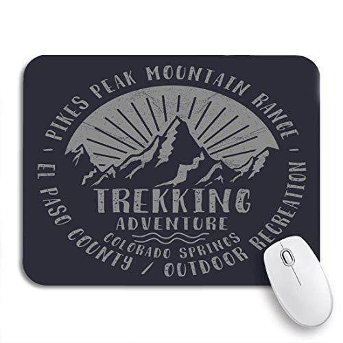 N\A Gaming Mouse Pad Colorado Mountain Trekking Sport tee Gráficos Adventure Print-Shirt Stamp Antideslizante Respaldo de Goma Mousepad para portátiles Computadoras Alfombrillas de ratón