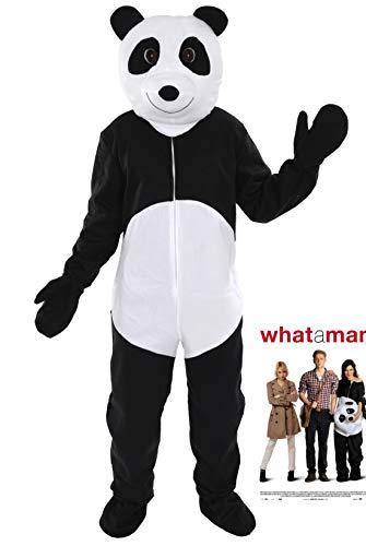 Panda Bär Kostüm Einheitsgrösse XXL Karneval Fasching Motto Party Maskottchen Laufkostüm
