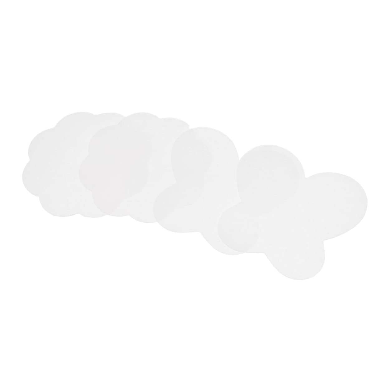 感嘆符デュアル狂乱B Blesiya 4個 ネイルアートパッド シリコン ペイントパレットマット 折りたたみ式 蝶 ネイルアートスタンプパッド DIY 全4色 - クリア