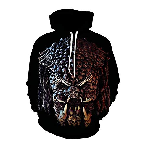 Zaima Unisex MäNner Frauen Langarm Sweatshirts Death Skull Digital Bedruckte Hoodies 3D Jumpers Sportswear Sweater Hooded Lose Kleidung S-5XL