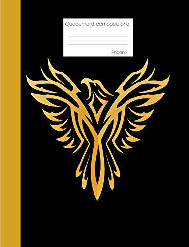 Quaderno di composizione Phoenix: Libro a griglia a punti, pagine bianche punteggiate