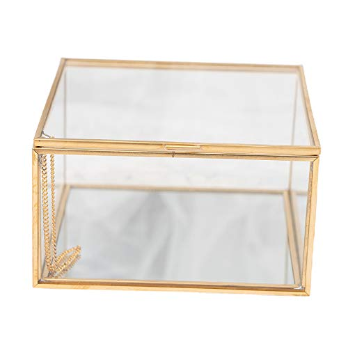 PETSOLA Jewellery Box Transparent Glass Room Glass Box Box Wedding with Lid