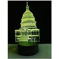 3Dイリュージョンナイトライト アメリカのホワイトハウス スマートタッチ キッズ3D目の錯覚7色LEDナイトライトボーイキッズおもちゃベビースリープデスクランプ寝室の装飾誕生日クリスマスクリエイティビティギフト