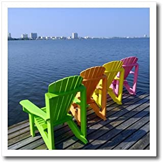 3dRose ht_87276_3 Adirondack Chairs, Orange Beach, Alabama, USA - Franklin Viola - Iron on Heat Transfer for White Material, 10 by 10-Inch