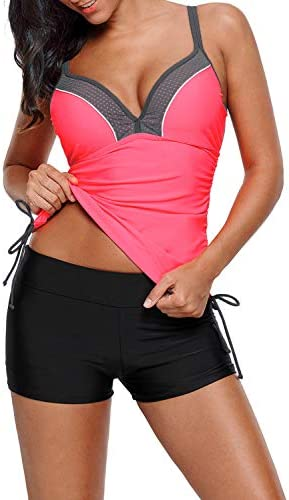 Dokotoo Womens Juniors Summer Bandeau Strappy Ruched Ties Side Push Up Athletic Bathing Suit product image