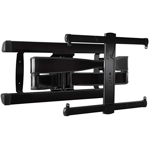 "Sanus Premium Full Motion TV Wall Mount for TVs Up to 90"" - Brushed Black Finish with FluidMotion Design for Smooth Extension, Tilt,"