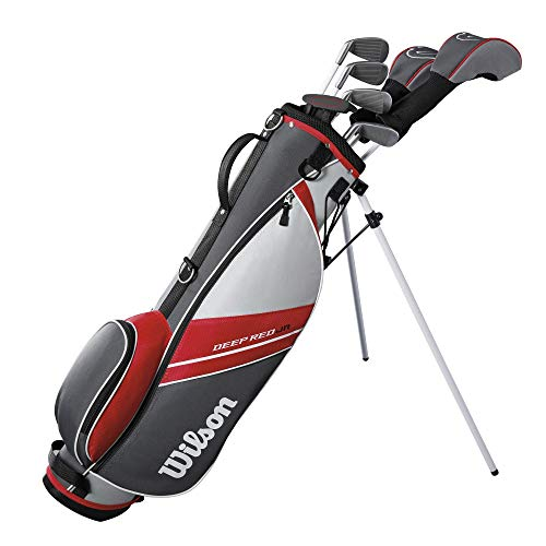 Wilson Youth Deep Red Tour Complete Golf Set - Right Hand, Large, Red