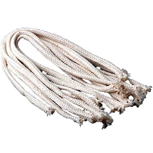 FRCOLOR - Mecha de algodón de repuesto trenzada trenzada para lámpara de aceite y velas de bricolaje a mano, vela para hacer suministros 10