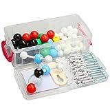 XHLLX 142pcs química orgánica Modelo Molecular Set de química Modelo Kits Paquete Moléculas orgánicas Modelos para Profesores Estudiantes Científicos