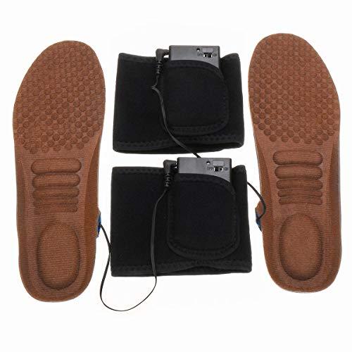C-Funn Elektrische voetverwarming voor de winter, schoenzolen, verwarming, pad Bruin