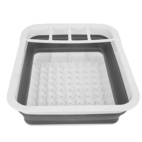 Secadora de platos plegable Organizador de vajillas Escurridor de platos