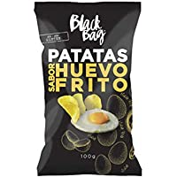 Black Bag Patatas Fritas Con Sabor A Huevo Frito Bag 100G. Pack Con 10 Bolsas. 1000 g