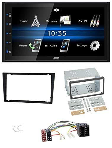 JVC KW-M24BT 2DIN Bluetooth MP3 AUX USB Autoradio für Opel Corsa C Meriva Signum Vectra B 00-04 Charcoal