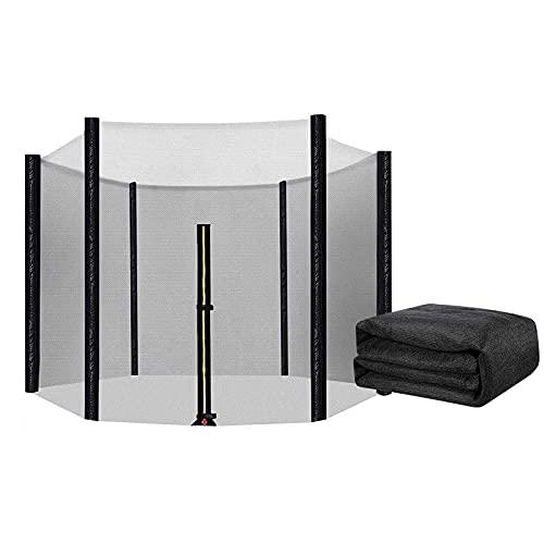 WYFC Trampoline Accessories Red de Seguridad Resistente A Los Rayos UV con Cierre a Prueba de Roturas Red de Protección Redonda
