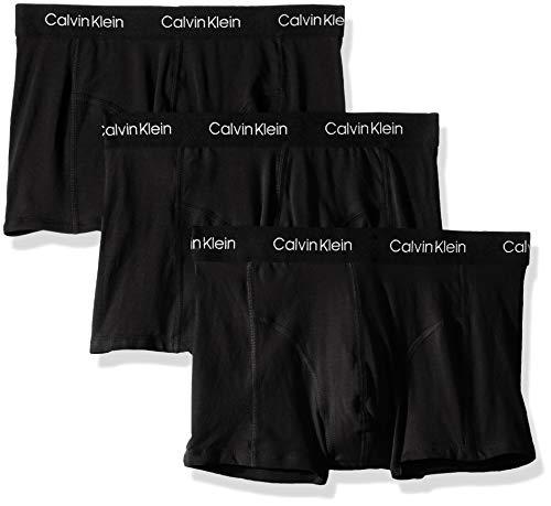 Calvin Klein Men's Underwear CK Axis Trunks, Black/Black/Black (3 Pack), S