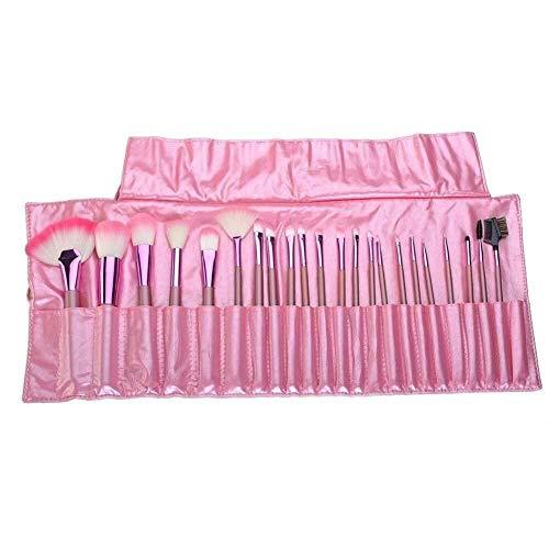 Professionnel Beauté Professionnelle 22 Pcs Pinceaux De Maquillage Pink Lady Maquillage Outils & Pinceau Synthétique De Fibre Synthétique Ensemble Avec Poche Pinceau Concealer Poignées