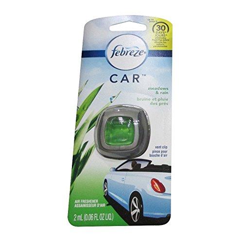 Fabreze Car Vent Clip Air Freshener - Meadows and Rain Scent - 2 Pack