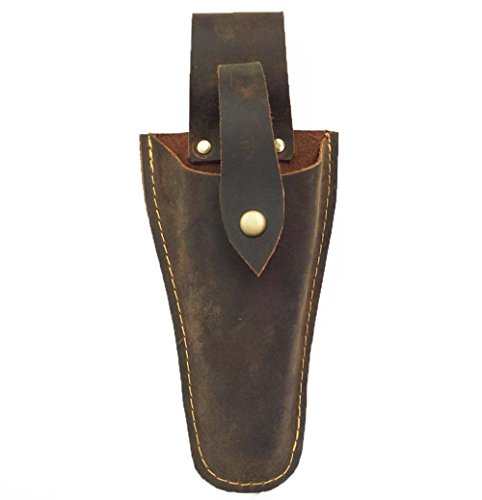 Leather Sheath Tool Holsters Belt Holder Pouch Bag for Pliers, Pruning Shears, Scissors or Garden Knife, Leather Pouch to Fit Wave Multi-Tool (HSZ-20) (Bronze)