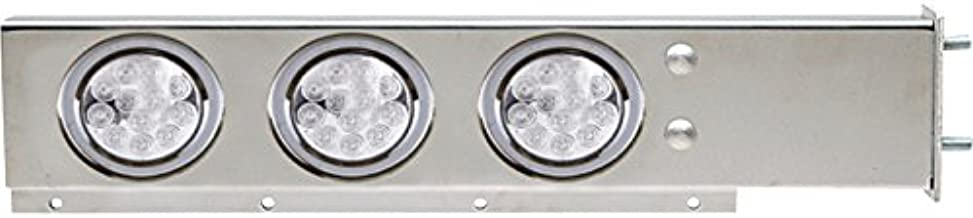 TRUX Accessories Semi-Truck Flat Top Mud Flap Hanger Light Bars with Clear LEDs - Pair, Model Number TU-9209LC