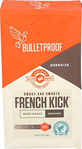 Bulletproof French Kick Dark Roast Ground Coffee 340g (French Kick Dark Roast Gemahlener Kaffee)