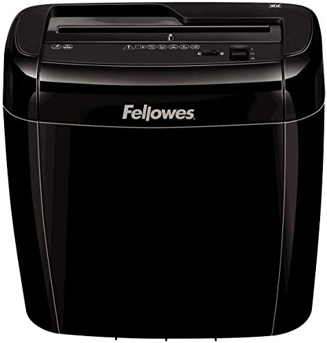 Fellowes Powershred 36C Cross Cut Personal Paper Shredder with Safety Lock for Home Use, 6 Sheet
