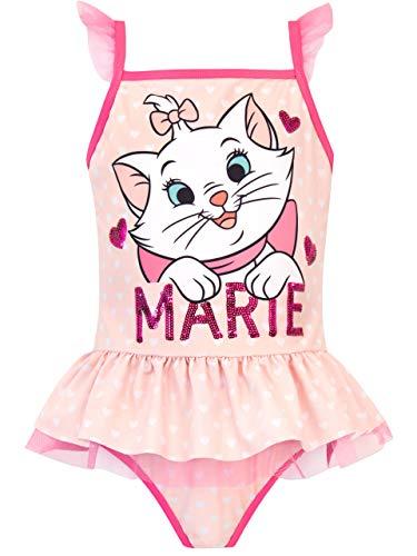 Disney - Maillot de Bain - Les aristochats - Fille - Aristocats - Rose- 6-7 Ans