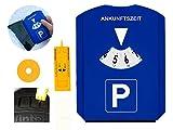 GibtPlus+ Parkscheibe 5 in 1 Parkuhr mit Reifenprofiltiefenmesser, Eiskratzer und Einkaufswagenchip...