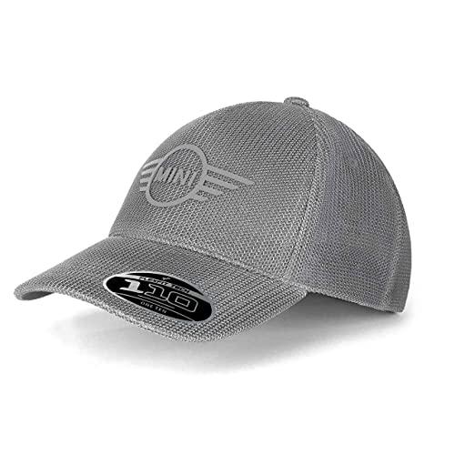 Mini Krah+Enders Original Mesh Wing Logo Snapback Cap Grau Unisex Kappe Flexfit TECH