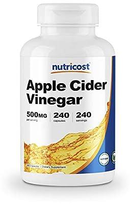 Nutricost Apple Cider Vinegar 500mg; 240 Capsules